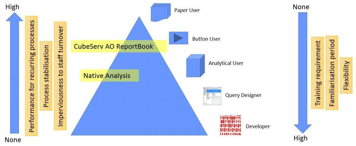 CubeServ Analysis Office Report Book within HR landscape